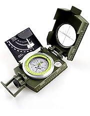 AOFAR AF-4074 Militaire Lensatische Waarnemingskompas-Multifunctioneel, Fluorescerend, Waterdicht en Schudbestendig met Hellingsmeter en Draagtas voor Camping, Wandelen, Jacht