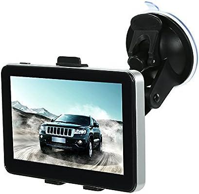 KKmoon Navegación GPS para Coche Portátil Navegador GPS Pantalla Táctil Lector GPS Navegación Anuncio Voz DDR128M 4GB Mapas de Europa Integrados 5 pollice: Amazon.es: Coche y moto