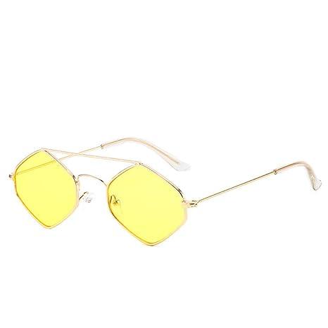 Yangjing-hl Gafas de Sol de Caja pequeña Gafas poligonales ...