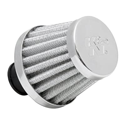 K&N Vent Air Filter/ Breather: High Performance, Premium, Washable, Replacement Engine Filter: Flange Diameter: 0.375 In, Filter Height: 1.75 In, Flange Length: 0.5 In, Shape: Breather, 62-1600WT: Automotive