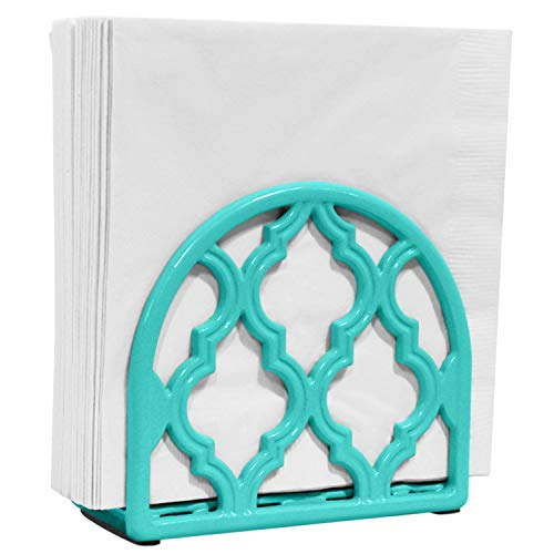 Blue Donuts Napkin Holder - Classic Napkin Holders for Tables, Dining Table Napkin Holder, Kitchen Organization (Turquoise)