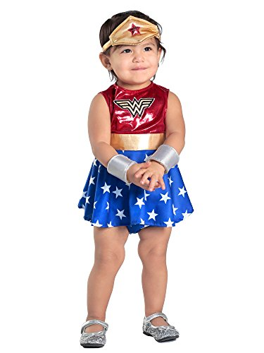 Princess Paradise Baby Girls' Wonder Woman Costume Dress and Diaper Cover Set, As As Shown 12 to 18 Months -