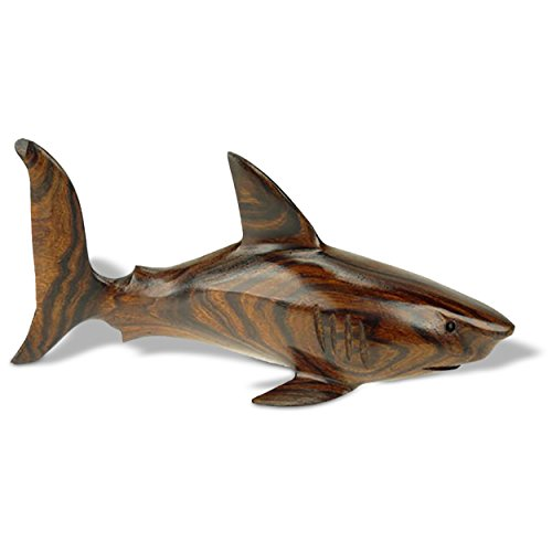 6-7in Long Shark Ironwood Art Carving - Seashore Decor