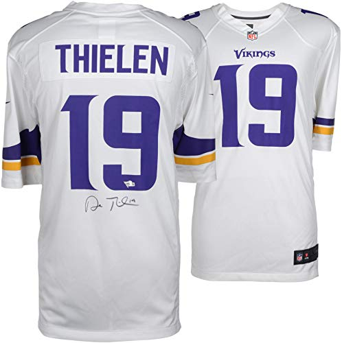official photos d3637 35dd1 Adam Thielen Minnesota Vikings Autographed White Nike Game ...