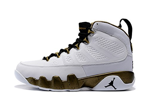 Air Jordan 9 lovers shoes bronzing white