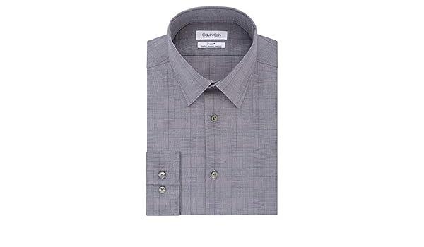 Calvin Klein - Camisa de Vestir para Hombre, no Necesita Planchado ...