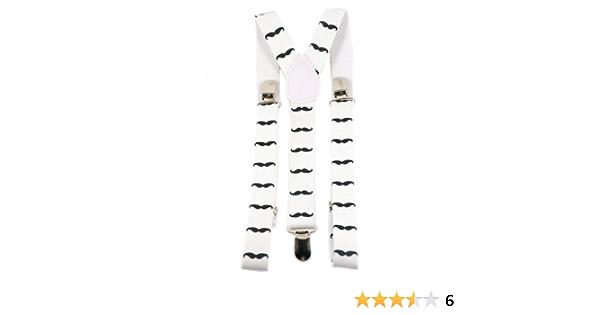 AJ Accessories Youth Boys Mustaches Adjustable Nylon Suspenders White//Black