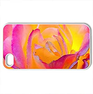 Beauty light - Case Cover for iPhone 4 and 4s (Flowers Series, Watercolor style, White)