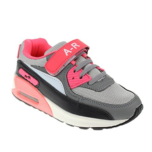 Hawkwell Classic Vibrant Running Shoes(Toddler/Little Kid/Big Kid),Grey Pink PU,10 M US