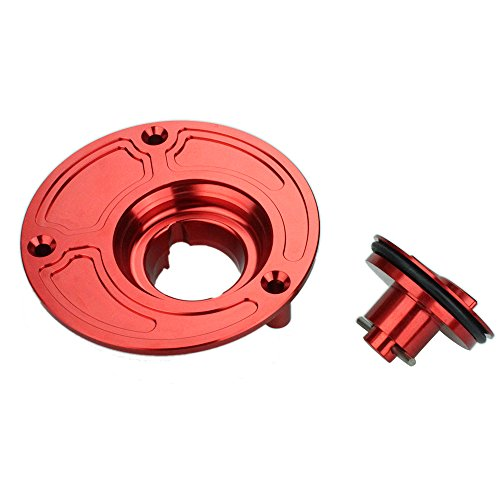 Rzmmotor Motorcycle CNC Aluminum Gas Fuel Tank Oil Cap Cover Fit For Yamaha R6 R6S R1 FAZER FZ1 FZ6 FZ6R FJR1300 All Years Red - Mt Oil Gas