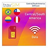 travSIM Three UK Prepaid Card Central South America SIM 12GB Data Valid For 60 Days - Free Roaming In 71+ Destination Countries Including Europe (Germany Spain UK France Portugal Italy Austria Belgium