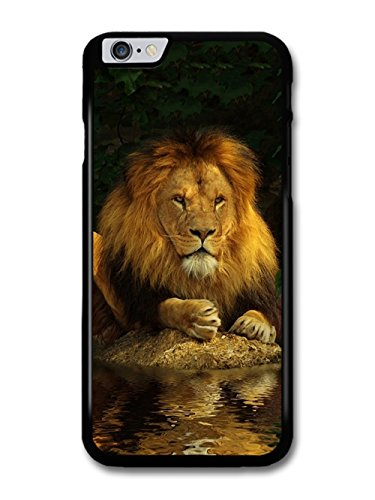 Lion Reflecting on Water coque pour iPhone 6 Plus 6S Plus
