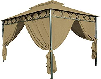 Repuesto para cenador, para el modelo Cape Town (4 x 3 m), impermeable, en 3 colores, capa de techo con revestimiento en PVC: Amazon.es: Jardín