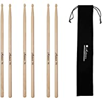 Antner 3 Pairs Maple Wood Drumsticks 7A Drum Sticks for...