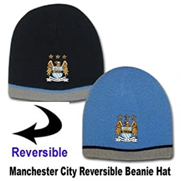 9f1d3098719 Man City Reversible Beanie Hat  Amazon.co.uk  Sports   Outdoors