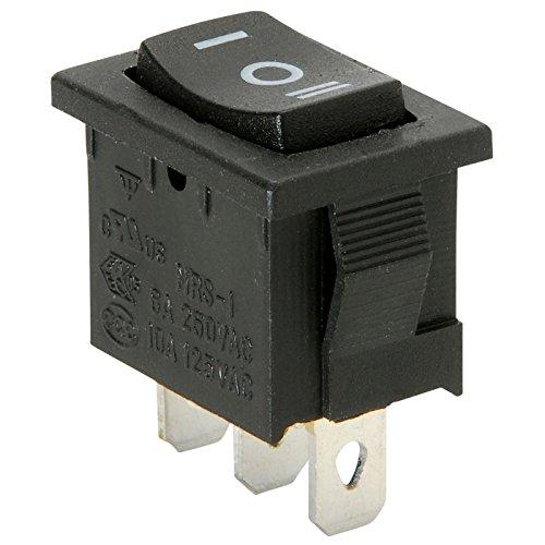 Parts Express SPDT Miniature Momentary Rocker Switch Center Off (2 Pack) ()