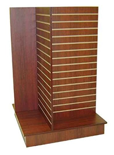 (Slatwall unit 4 Way Cherry Color, display stand.)
