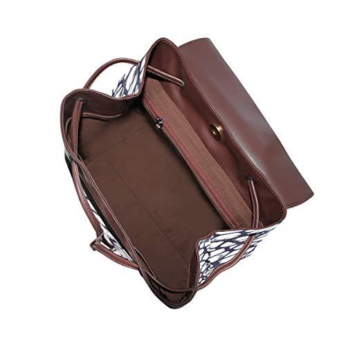 Kvinnor PU-läder svamp mönster textur struktur ryggsäck handväska resa skola axelväska ledig dagväska