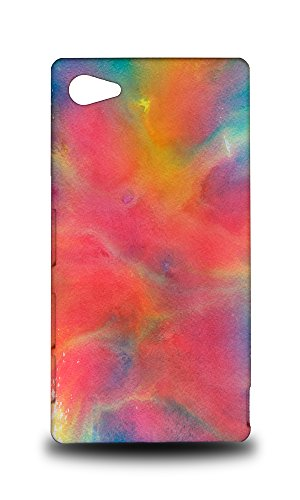 Price comparison product image Foxercases Design Blue Pink Watercolor 50 Hard Back Case Cover For Sony Xperia Z5 Compact