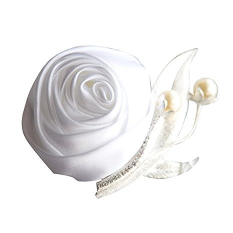 Demarkt K/ünstliche Boutonniere Hochzeit Braut Blumen Anstecker Hochzeit Brautaccesoires Orange