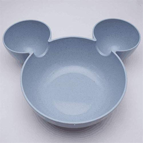 Best Quality - Bowls - Kid Mickey Bowl Dishes Cartoon Mouse Lunch Box Kid Baby Children Infant Baby Rice Feeding Bowl Plastic Snack Plate Tableware - by SeedWorld - 1 PCs ()
