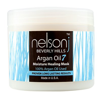 Nelson j Beverly Hills Argan Oil 7 Moisture Healing Mask - Scent: Coconut - 4oz by Nelson j Beverly Hills