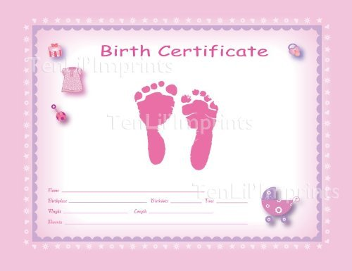 Baby-Safe Pink Color Birth Kit by Ten Lil' Imprints   B00947NZCK