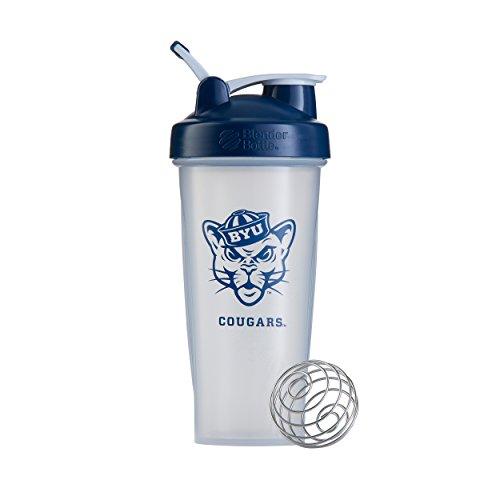 Cougars Bottle - BlenderBottle Collegiate Classic 28-Ounce Shaker Bottle, Brigham Young University Cougars - Clear/Blue