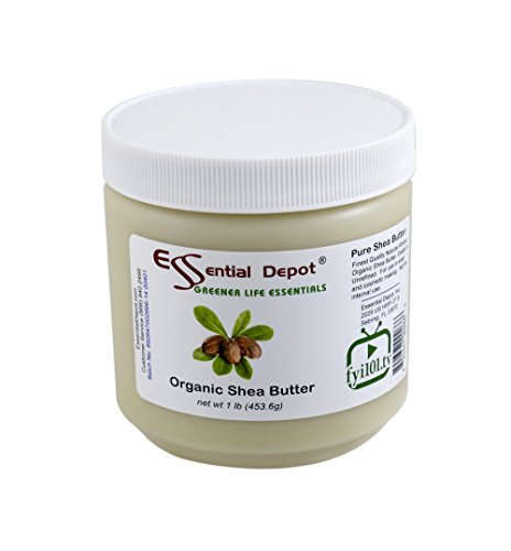 Shea Butter - 16 oz. - 1 lb - Organic - Unrefined - In HDPE Jar
