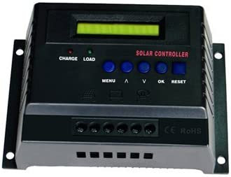 50-Amp 12-Volt 24-Volt Digital Solar Power Charge Controller