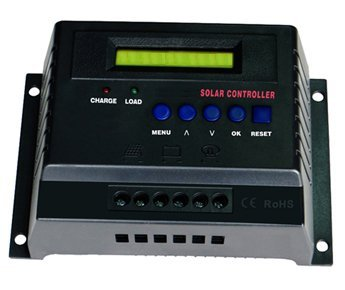 50-Amp 12-Volt 24-Volt Digital Solar Power Charge Controller
