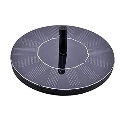 Punson Outdoor Water Fountains, 1.4W Brushless DC & Automatic Solar Water Pump,Spray Height 30-60cm With Diversified Nozzle, Suitable for Pond,Garden Decoration(Circle)