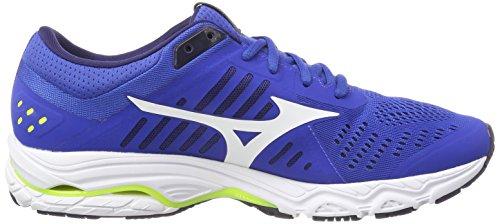 Mizuno Men's Wave Stream Running Shoes Multicolor (Classicbluewhitesafetyyellow) zIAtAkvV3