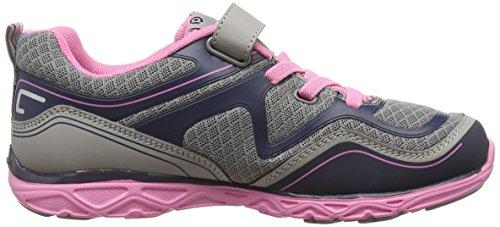 PediPed Force, Zapatillas de Running Niñas Gris (Silver Navy)