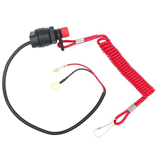 Royitay Universal Boat Outboard Engine Motor Kill Stop Switch and Safety Tether Lanyard Yamaha Tohatsu Honda Outboard Motors ATV Boat Bike