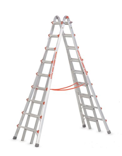 (Little Giant Ladders 10110 SkyScraper 300-Pound Duty Rating Adjustable Stepladder, 17-Foot)