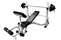 Olympic Flat Incline Decline Bench Press with Arm & Leg Attachment (Barbell Excluded)