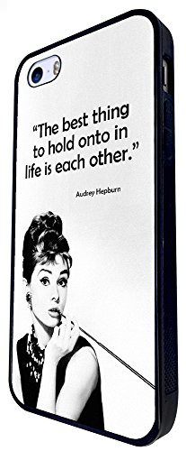 728 - Life Quote The Best Thing To Hold Onto In Life Is Each Other Design iphone SE - 2016 Coque Fashion Trend Case Coque Protection Cover plastique et métal - Noir