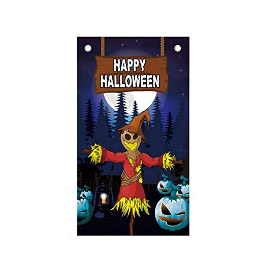 Cinema Halloween Party (HENWERD Happy Halloween Background Hanging Flag Poster Bar Party Cinema Decoration)