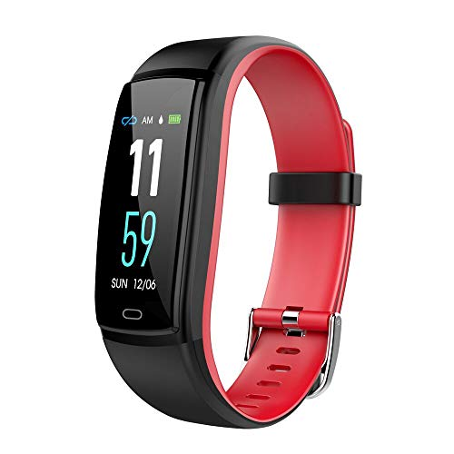 Mgaolo Fitness Tracker HR, Activity Tracker Waterproof Smart Watch Wristband with Heart Rate Blood Pressure Pedomete for Android and iPhone (Red) by Mgaolo (Image #1)