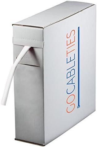 4.8 mm x 10 m blanco color blanco de alta calidad relaci/ón 2:1 Minicarrete Gocableties de tubo termorretr/áctil