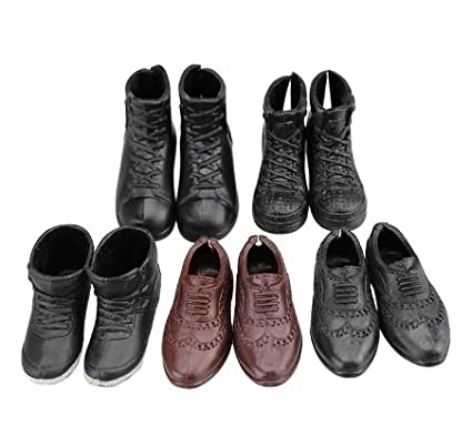 29e2ab81e1761 5 Pairs Fashion Doll Shoes Boots Sneakers Shoes for Doll
