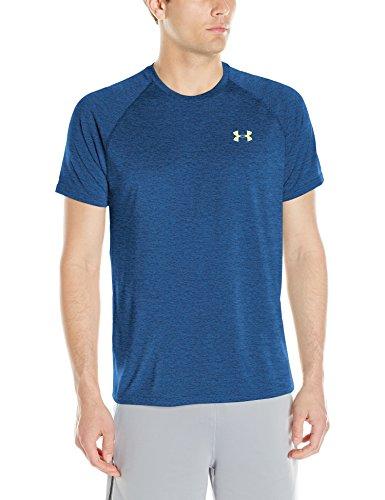 Under Armour Herren Fitness T-shirt und Tank Ua Tech Ss Tee 1228539, Blau (Squadron), Gr. DE : L (Herstellergröße: LG)