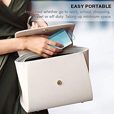 Mini ventilador mano, ventilador bolsillo plegable extraíble ...