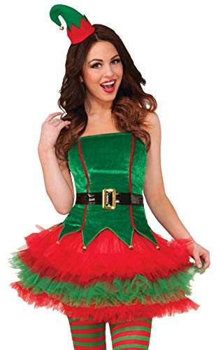 Forum Novelties Women's Sassy Elf Costume, Multi, -