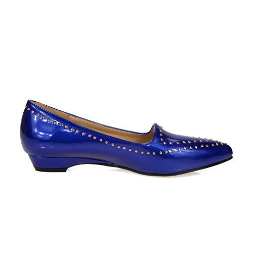 Closure Slip Shoes Resistant No Womens Solid SDC03654 Blue Loafers Urethane Urethane AdeeSu qEzpHXwz