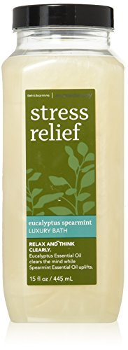 Bath &Body Works Aromatherapy Stress Relief Eucalyptus Spearmint Luxury Bath 15 Fl Oz
