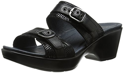 Dansko Women's Jessie Sandal - Black Lizard - 41 M EU / 1...