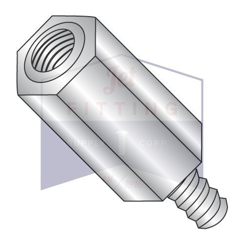 6-32X1 3/8 1/4'' OD Hex Standoffs (Male-Female) | Stainless Steel (QUANTITY: 500) by Jet Fitting & Supply Corp