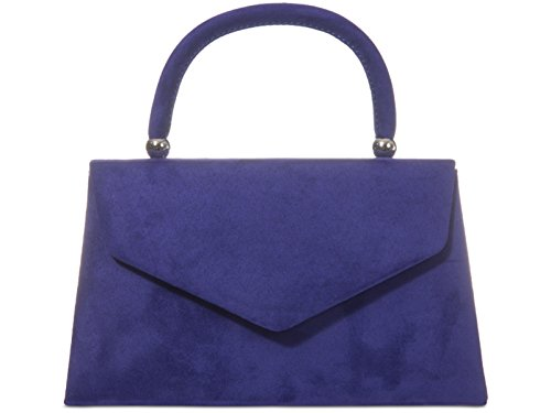 Clutch Retro Evening Purse Ladies Hand Party Tote Suede Purple Prom Style fi9 Wedding Bag azAAwd